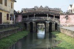 Japanese Bridge, Hoian Vietnam. Side of Japanese Covered Bridge. Hoian, Vietnam Stock Image