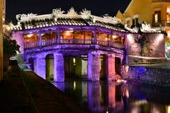 Japanese Bridge by night. Hoi An. Vietnam Stock Images