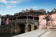 Japanese bridge pagoda. In Hoi An royalty free stock photo