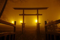 Japanese bridge. Royalty Free Stock Photography