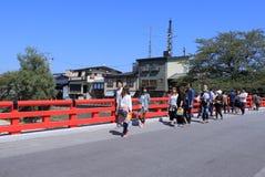 Japanese bridge Takayama Royalty Free Stock Photos