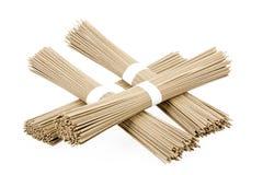 Japanese buckwheat noodles soba on white background Royalty Free Stock Image