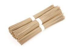 Japanese buckwheat noodles soba on white background Royalty Free Stock Photography