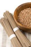 Japanese buckwheat noodles soba Stock Image