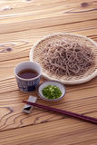 Japanese buckwheat noodles in summer royalty free stock photography
