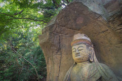 Japanese Buddha statue Royalty Free Stock Photo