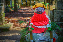 Japanese Buddha Statues (Jizo Bodhisattva) at Koyasan (Mt. Koya) area Stock Photo