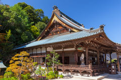 Japanese buddhist temple in Miyajima Royalty Free Stock Images