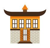 Japanese building  isolated icon design Stock Photos