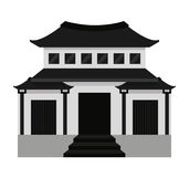 Japanese building  isolated icon design Royalty Free Stock Photography