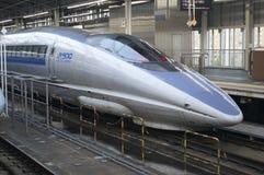 Japanese bullet train. A shinkansen bulltet train in japan tokyo station Royalty Free Stock Photography
