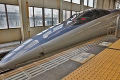 Japanese Bullet Train Stopped At hiroshima Royalty Free Stock Image