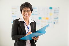 Japanese business lady Royalty Free Stock Photo