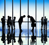 Japanese Business People Bowing Down Office Concept Stock Image