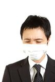 Japanese businessman with mask Stock Photography