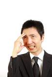 Japanese businessman regrets  Royalty Free Stock Photo
