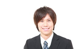 Japanese businessman smiles Stock Photography