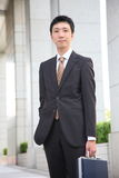 Japanese businessman in the town Stock Photography