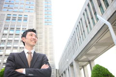 Japanese businessman in the town Stock Images