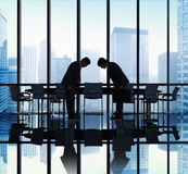 Japanese Businessmen Bowing Down Office Concept Stock Images