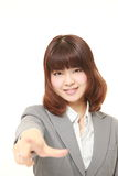 Japanese businesswoman decided Stock Image