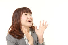 Japanese businesswoman laughing Royalty Free Stock Photography