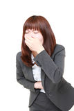 Japanese businesswoman vomit Royalty Free Stock Photos