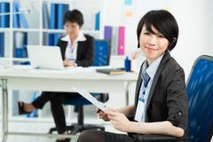 Japanese businesswoman Royalty Free Stock Photo