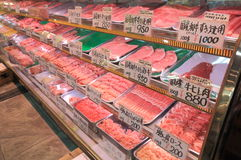 Japanese butcher Omicho market Kanazawa Japan Stock Images