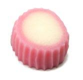 Japanese cake. Japanese pink cake isolated over white background Royalty Free Stock Photos