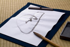 Japanese calligraphy Stock Photo