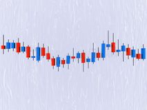 Japanese candlestick. 3D japanese candlestick (forex chart Royalty Free Stock Photos