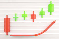 Japanese candlestick analysis concept Stock Photography