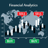 Japanese candlestick chart showing  trend Royalty Free Stock Photos
