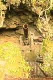 Japanese cannon from WWII Stock Images