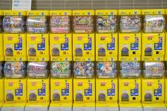 Japanese capsule toy vending machine Gachapon Stock Photo