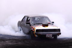 Japanese car with V8 doing a burnout Royalty Free Stock Images