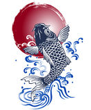 Japanese carp vector illustration