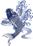 Japanese carp. I drew a carp in the technique of the Japanese traditional painting Stock Images
