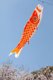 Japanese carp kite Royalty Free Stock Photo