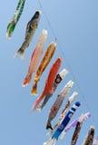 Japanese carp kite decoration Stock Photos