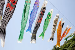 Japanese carp kite streamer Royalty Free Stock Photography