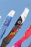 Japanese carp kites Royalty Free Stock Photography
