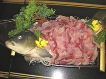 Japanese Carp Sashimi Royalty Free Stock Photos