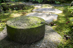 Japanese carved stone Stock Photo