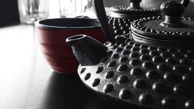Japanese cast iron kettles Royalty Free Stock Photos