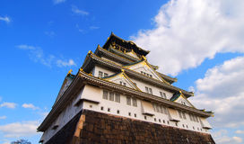 Japanese Castle. Medieval Japanese Castle with Blue Sky Royalty Free Stock Image