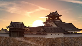 Japanese castle Stock Photos