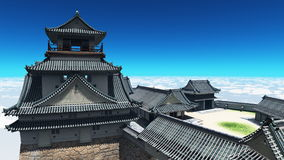 Japanese castle Royalty Free Stock Photos
