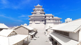 Japanese castle Royalty Free Stock Images
